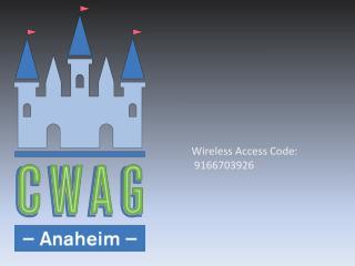 Wireless Access Code:  9166703926