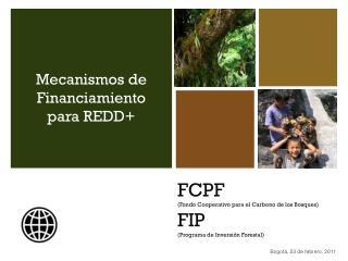 FCPF ( Fondo Cooperativo para  el  Carbono  de los  Bosques ) FIP ( Programa  de  Inversión Forestal )