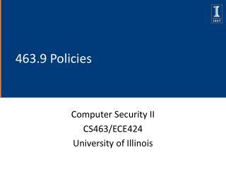 463.9 Policies