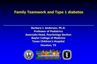 Family Teamwork and Type 1 diabetes