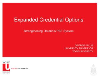 Expanded Credential Options Strengthening Ontario's PSE System