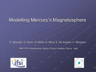 Modelling Mercury's Magnetosphere