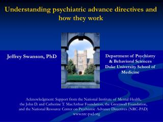 Understanding psychiatric advance directives and how they work