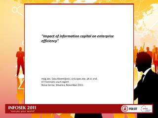 """ Impact of information capital  on  enterprise efficiency """