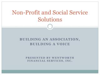 Non-Profit and Social Service Solutions