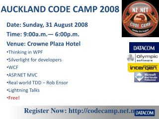 AUCKLAND CODE CAMP 2008