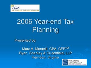 2006 Year-end Tax Planning