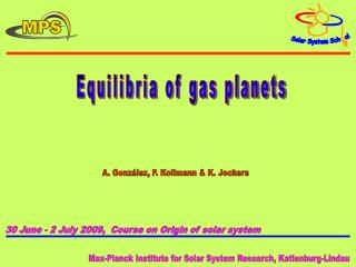 Equilibria of gas planets