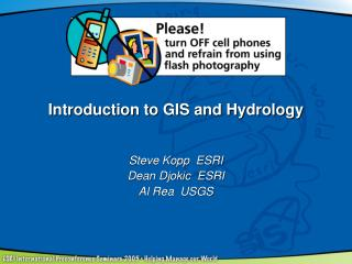 Introduction to GIS and Hydrology