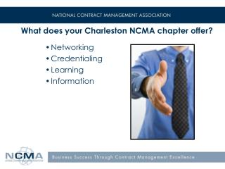 What does your Charleston NCMA chapter offer?