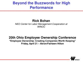Beyond the Buzzwords for High Performance