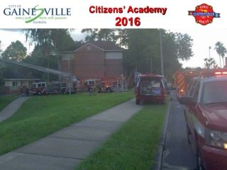 Fire Department Accreditation and Self Assessment Overview