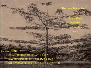 The Great Kapok Tree Author:  Lynne Cherry Publisher:  Harcourt Brace & Co.