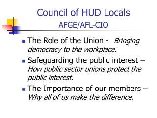 Council of HUD Locals AFGE/AFL-CIO