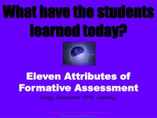 What have the students learned today?
