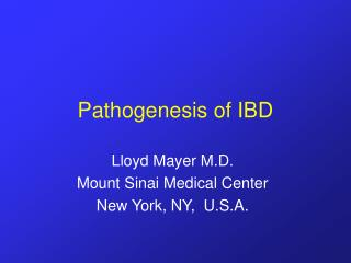 Pathogenesis of IBD