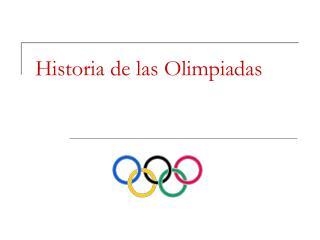 Historia de las Olimpiadas