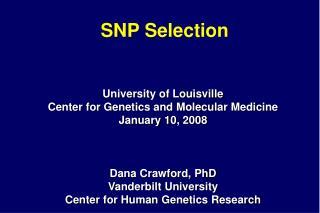 SNP Selection