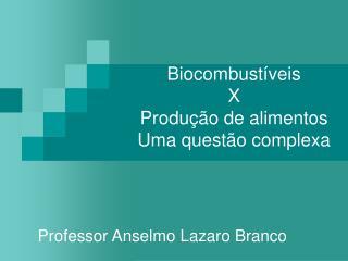 Biocombust veis  X  Produ  o de alimentos Uma quest o complexa