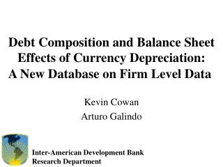 Debt Composition and Balance Sheet Effects of Currency Depreciation: A New Database on Firm Level Data