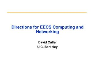 Directions for EECS Computing and Networking