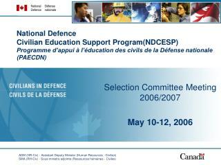 National Defence  Civilian Education Support Program(NDCESP) Programme d'appui à l'éducation des civils de la Défense n