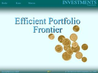 Efficient Portfolio Frontier