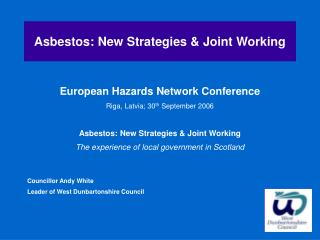 Asbestos: New Strategies & Joint Working