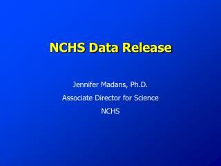 NCHS Data Release
