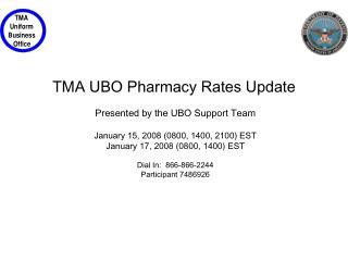TMA UBO Pharmacy Rates Update