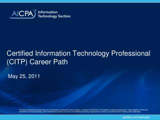 Certified Information Technology Professional (CITP) Career Path