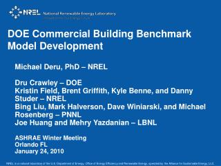 DOE Commercial Building Benchmark  Model Development