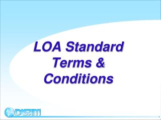LOA Standard Terms & Conditions