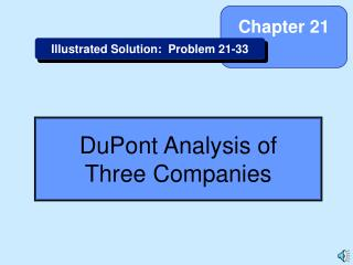 DuPont Analysis of Three Companies