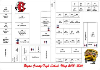 Bryan County High School  Map 2013-2014