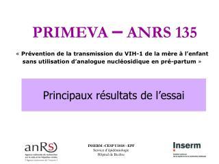 « Prévention de la transmission du VIH-1 de la mère à l'enfant sans utilisation d'analogue nucléosidique en pré-partum