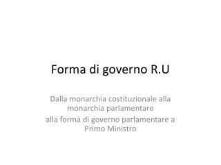 Forma di governo R.U