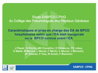 Caractéristiques et prise en charge des EA de BPCO   hospitalisées selon que l'EA était inaugurale  ou la  BPCO connue