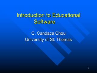 Introduction to Educational Software