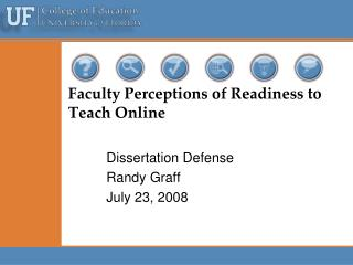 Faculty Perceptions of Readiness to Teach Online