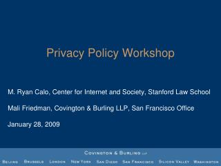 Privacy Policy Workshop