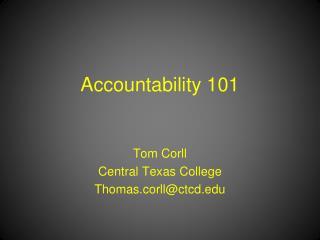 Accountability 101