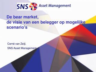 De bear market,  de visie van een belegger op mogelijke scenario's