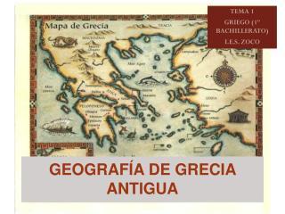 GEOGRAFÍA DE GRECIA ANTIGUA