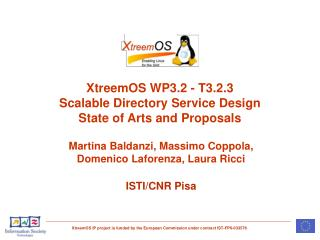 XtreemOS WP3.2 - T3.2.3  Scalable Directory Service Design State of Arts and Proposals