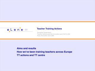 Teacher Training Actions
