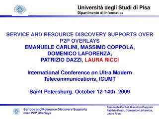 Universit à degli Studi di Pisa Dipartimento di Informatica