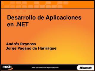 Desarrollo de Aplicaciones en .NET
