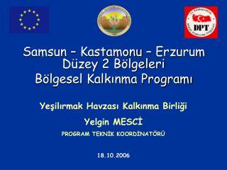 Samsun – Kastamonu – Erzurum Düzey 2 Bölgeleri  Bölgesel Kalkınma Programı