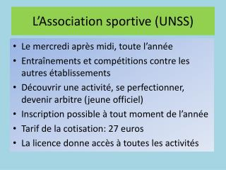 L'Association sportive (UNSS)
